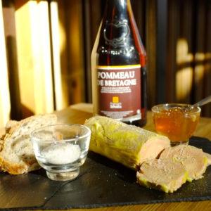 Panier foie gras pommeau